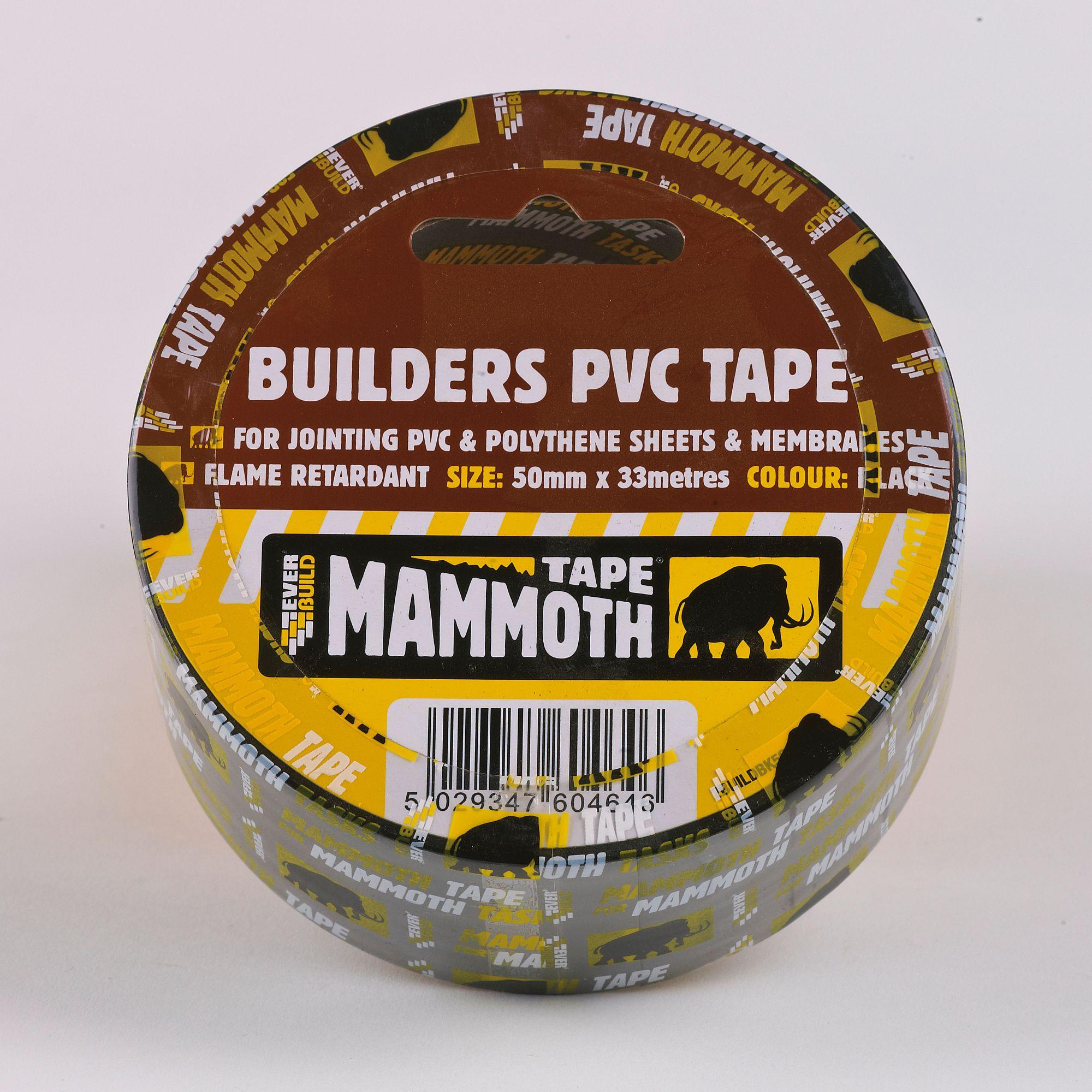 BUILDER'S PVC TAPE 75MM 33MTR