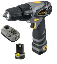DUROFIX 10.8V DRILL DRIVER KIT (CASE, 2X BATTERIES, CHARGER & DRILL BIT SET)
