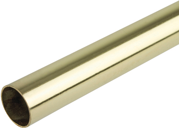WARDROBE RAIL - ROUND 19MM BRASS