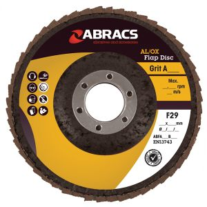 FLAP DISC ALUMINIUM OXIDE 115 X 22MM X  40G