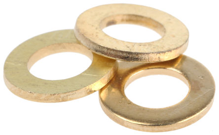 WASHER - BRASS FLAT M3