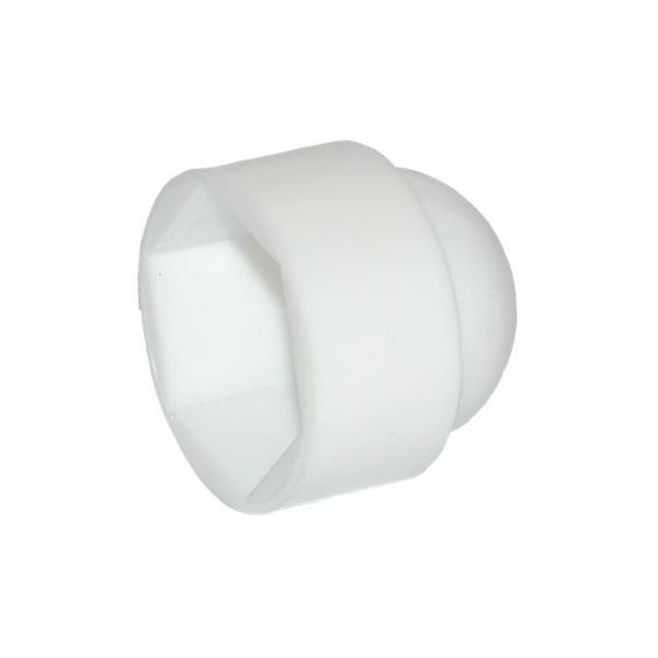HEXAGON NUT & BOLT PROTECTION CAP - WHITE PLASTIC M12