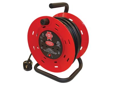 CABLE REEL 25M 13AMP TWIN SOCKET 240V