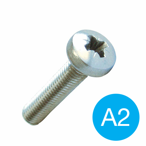 MACHINE SCREW - POZI PAN HD A2 S/S M 3 X  5