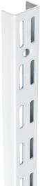 TWIN SLOT UPRIGHT - WHITE 1220MM