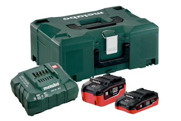 METABO LiHD BASIC SET BATTERY PACK 18V (1 X 3.5AH & 1 X 5.5AH)