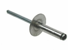 RIVET - ALUM/STEEL LARGE FLANGE HEAD 4.8 X 25MM
