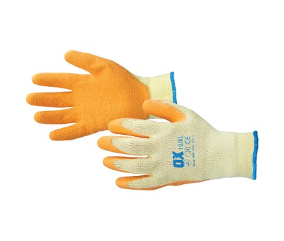OX LATEX GRIP GLOVES SIZE  9 (L)