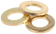 WASHER - BRASS FLAT M4