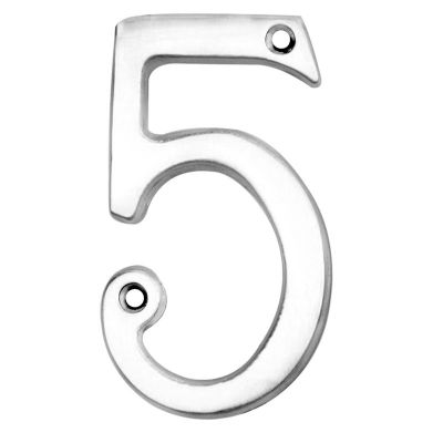 NUMERAL FACE FIX (NO.5) 76MM POLISHED CHROME