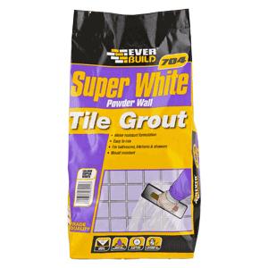 EVERBUILD 704 WALL TILE GROUT POWDER SUPER WHITE 3KG