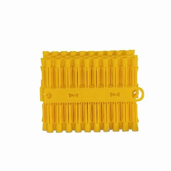 PLASTIC WALL PLUGS - YELLOW