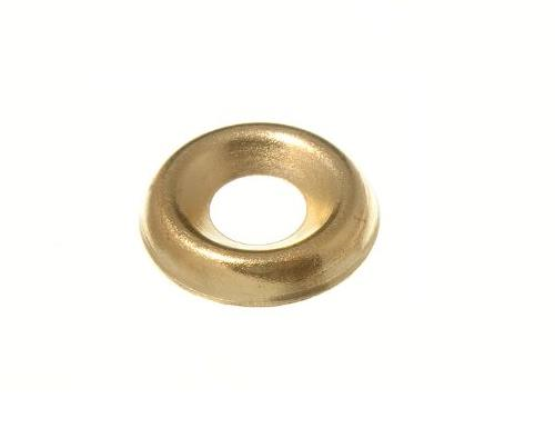 SURFACE SCREW CUP WASHER - 3.5 (6G) BRASS PLATED