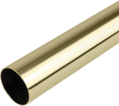 WARDROBE RAIL - ROUND 25MM BRASS