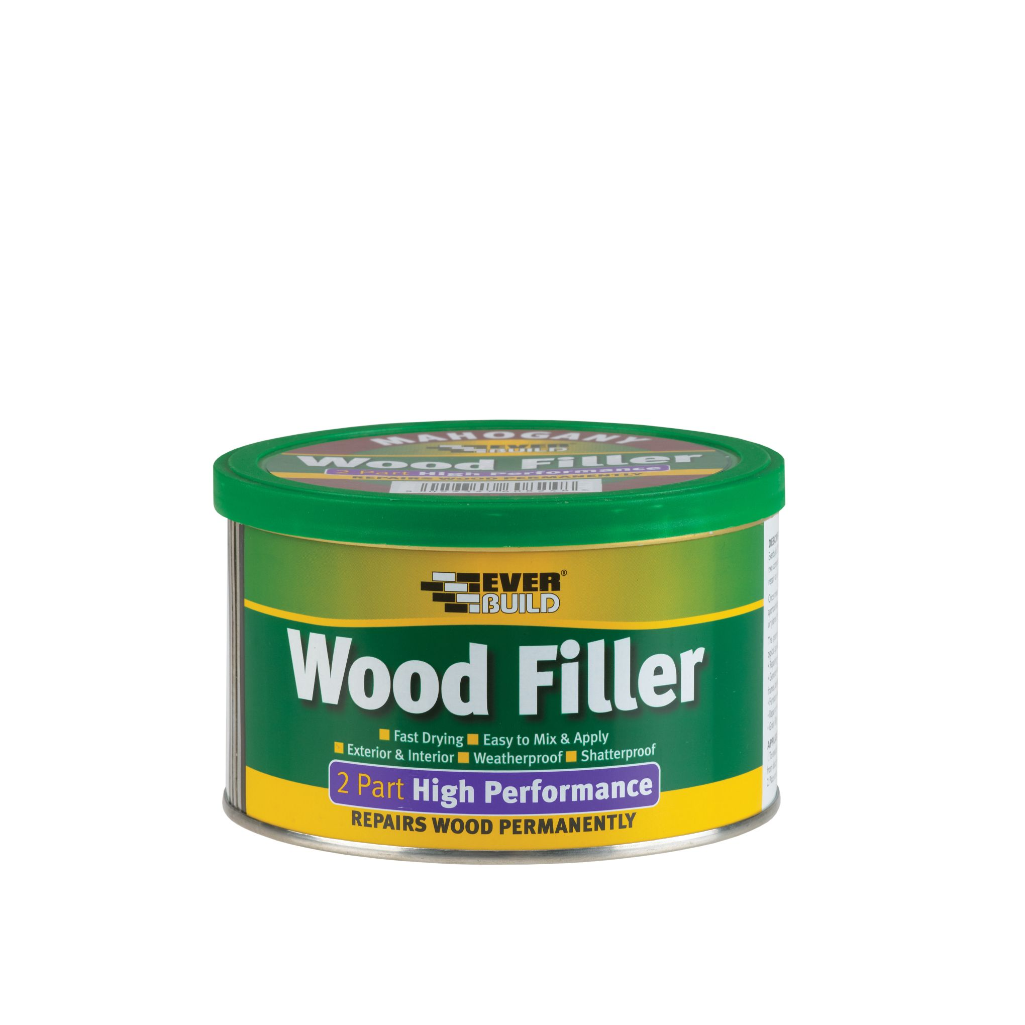 HIGH PERFORMANCE 2-PART WOOD FILLER 500G MAHOGANY