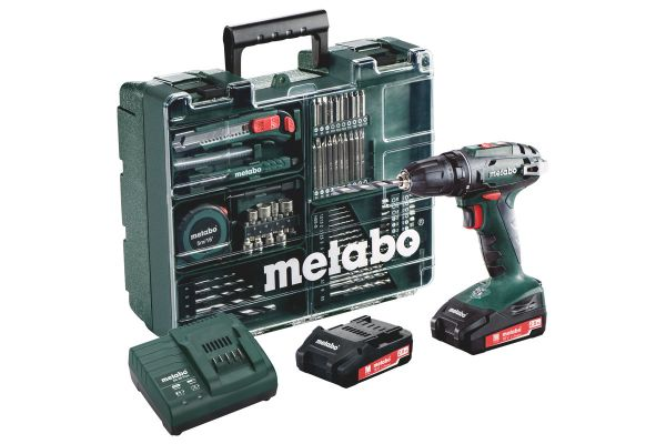 METABO BS18 QUICK CORDLESS 18V DRILL/SCREWDRIVER MOBILE WORKSHOP KIT (C/W 2X 2.0AH BATTERIES, CHARGER & CARRY CASE)