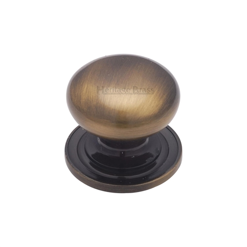 CABINET PULL 25MM ANTIQUE BRASS
