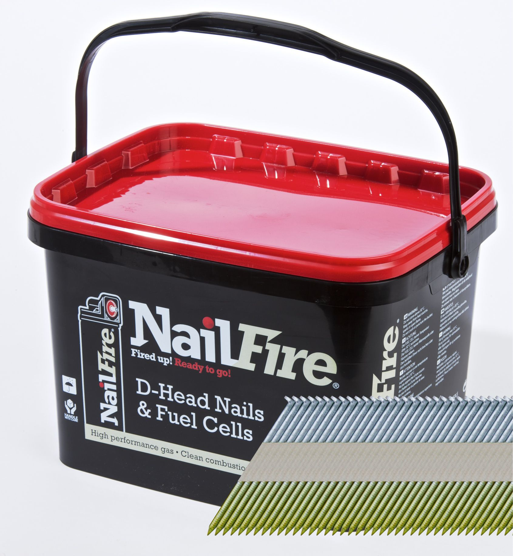 NAILFIRE 1ST FIX E-GALV RING NAIL & FUEL PACK 65MM (TUB OF 3000)
