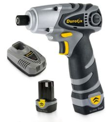 DUROFIX 10.8V IMPACT DRIVER KIT (CASE, 2X BATTERIES, CHARGER & DRILL BIT SET)