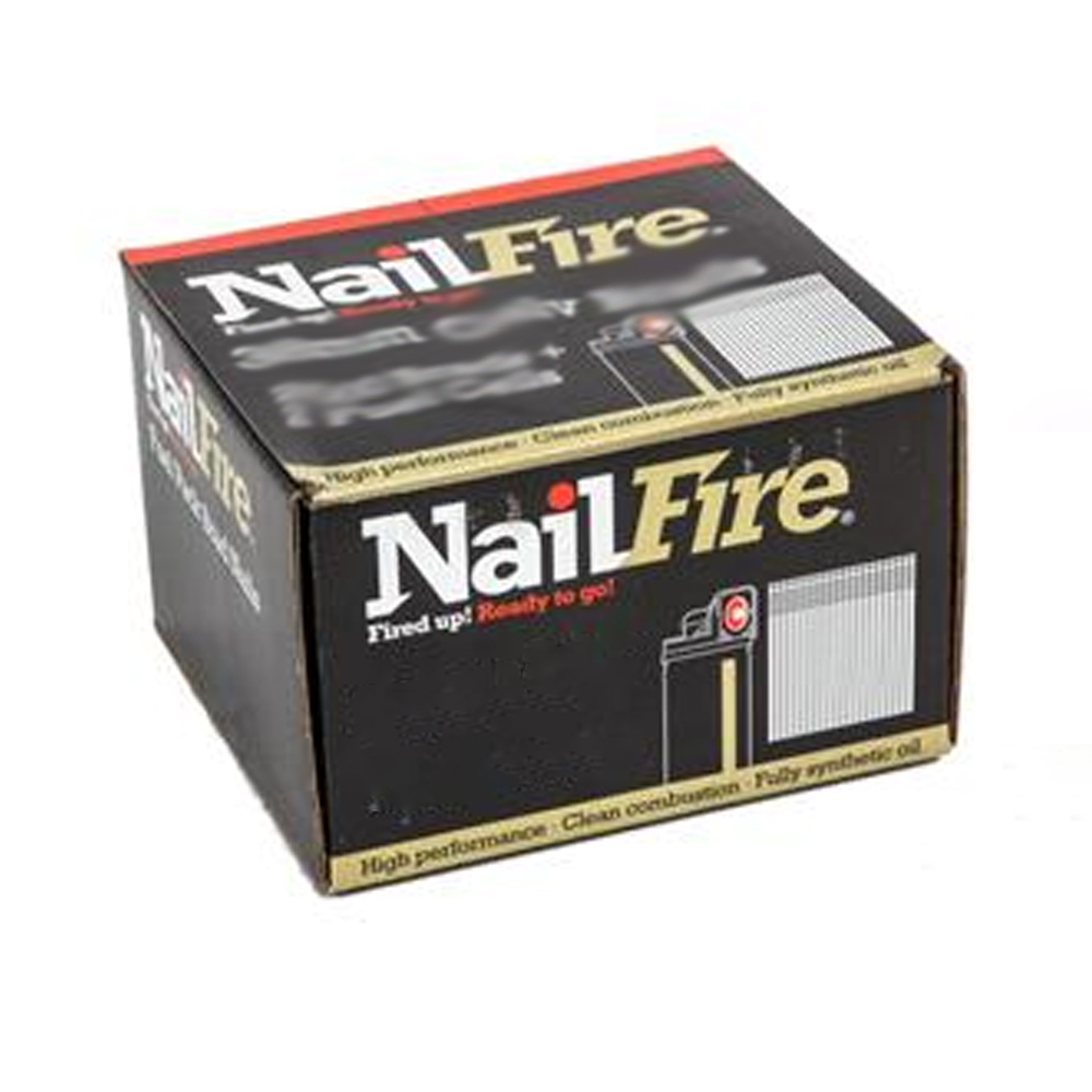 NAILFIRE 2ND FIX STRAIGHT STAINLESS STEEL BRAD & FUEL PACK 50MM (TUB OF 2000)