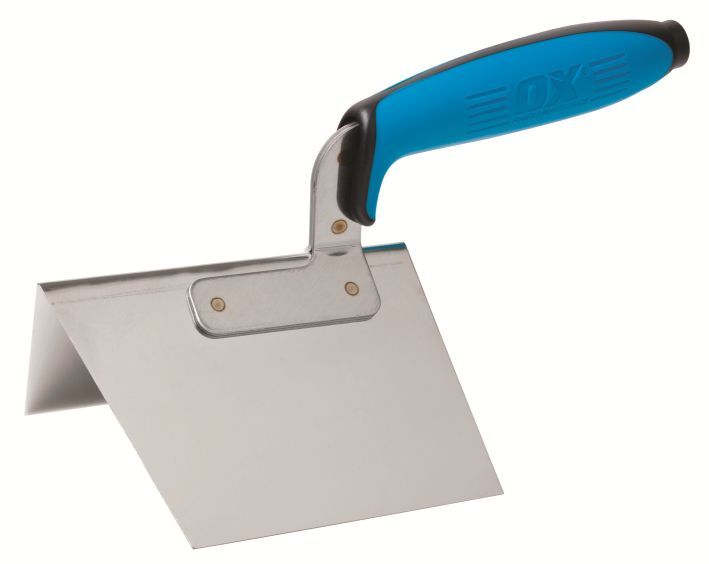 OX PRO DRY WALL EXTERNAL CORNER TROWEL 100 X 125MM