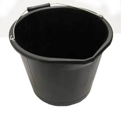 INDUSTRIAL BUCKET 3 GALLON BLACK
