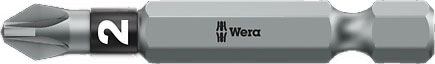 SCREWDRIVER INSERT BIT - WERA POZI PZ3 X 152MM BI-TORSION EXTRA TOUGH (SILVER - IMPACT RESISTANT)