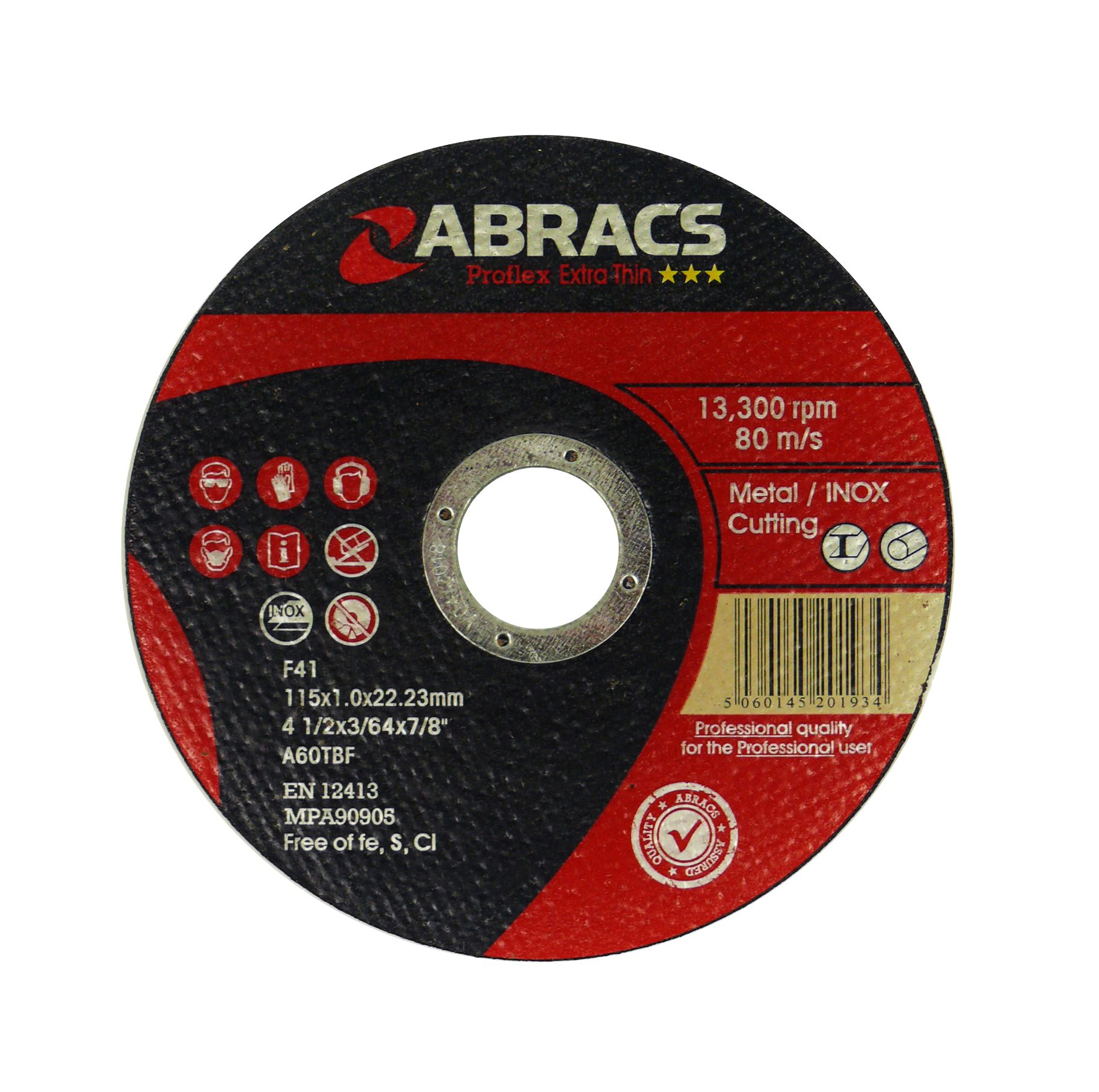 THIN METAL CUTTING DISC 115 X 1.0MM