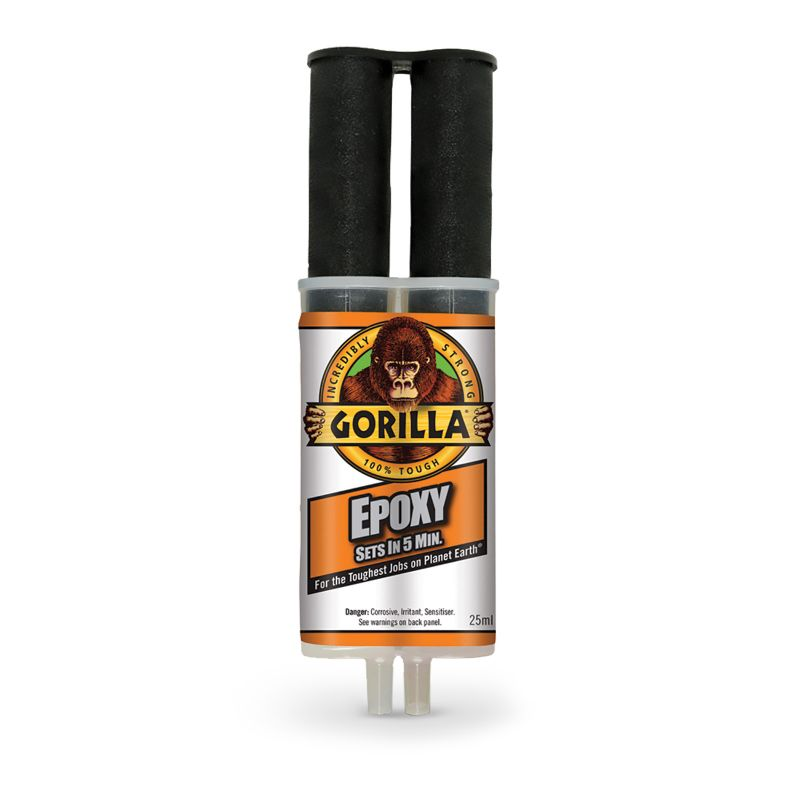 GORILLA EPOXY ADHESIVE CRYSTAL CLEAR 25ML (RE-SEALABLE)