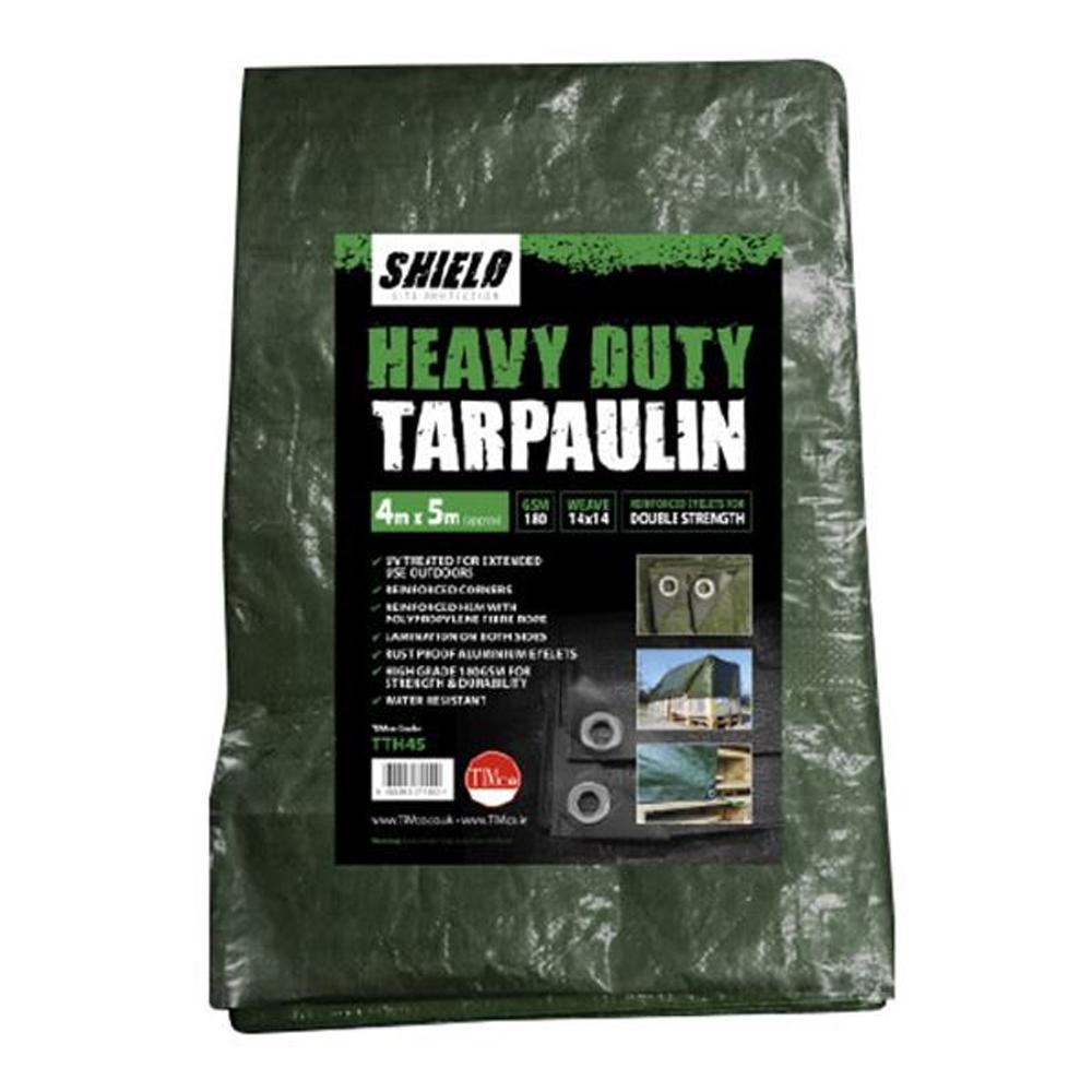 TARPAULIN SHEET HEAVY-DUTY 4M X 5M (DARK GREEN)