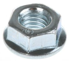 FLANGE NUT SERRATED M6 BZP