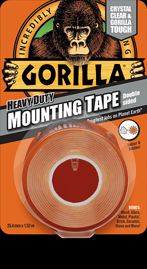 GORILLA DOUBLE SIDED HEAVY DUTY MOUNTING TAPE 25.4MM X 1.52M