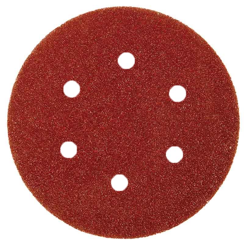 VELCRO SANDING DISC ALUMINIUM OXIDE 6-HOLE 150MM X 320G