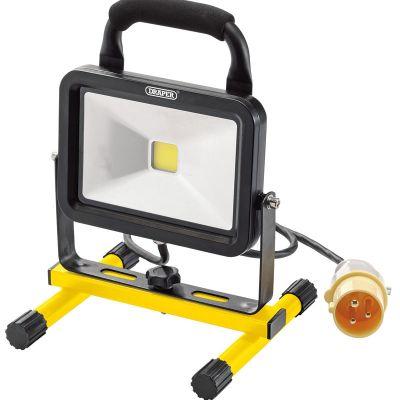 DRAPER 20W (1300 LUMENS) COB LED FLOOR STAND FLOODLIGHT SITE LAMP 110V