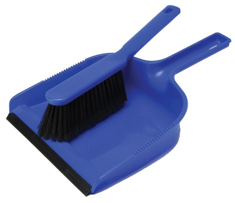 PLASTIC DUSTPAN & BRUSH SET