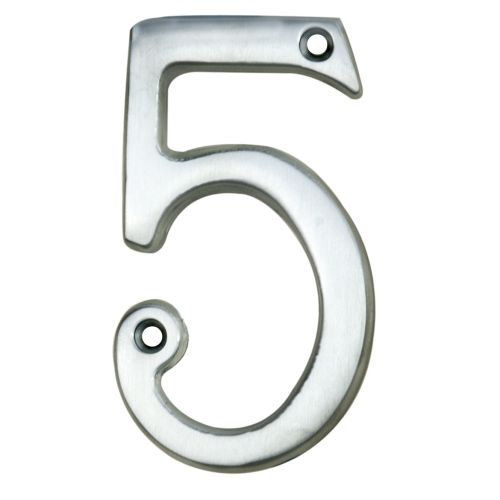 NUMERAL FACE FIX (NO.5) 76MM SATIN CHROME