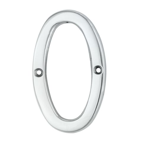 NUMERAL FACE FIX (NO.0) 76MM POLISHED CHROME