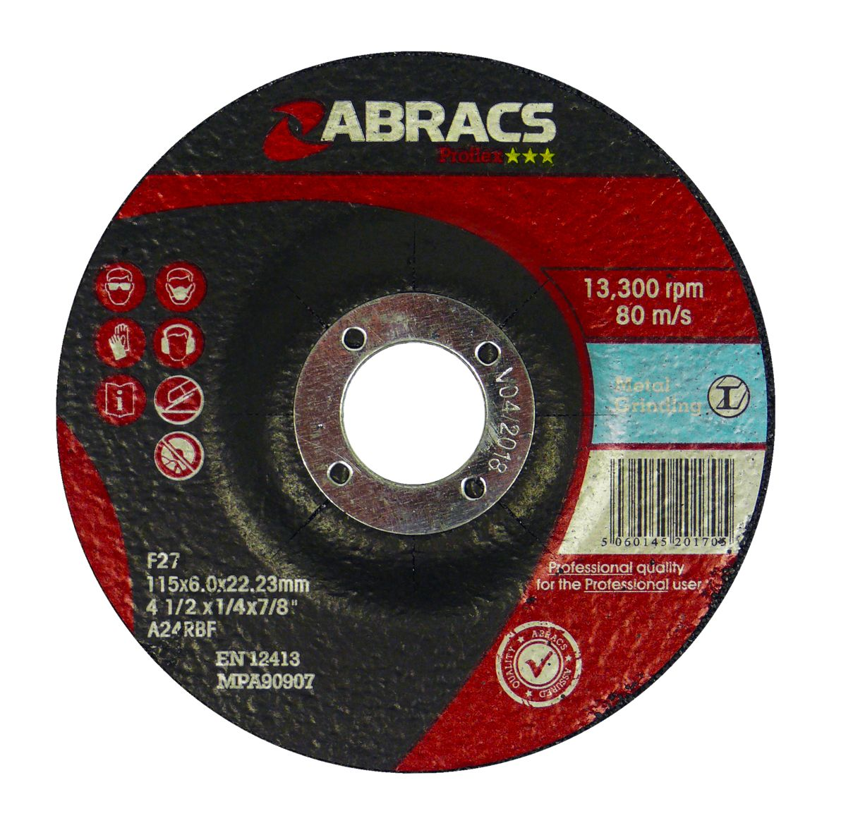 METAL GRINDING DISC - DPC 115 X 6.0 X 22.23MM