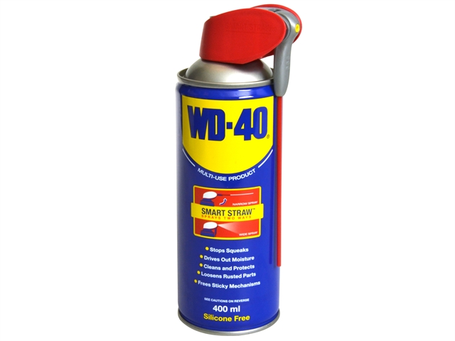 WD40 MULTI-PURPOSE LUBRICANT & CLEANER 400ML AEROSOL SPRAY (SMART STRAW)