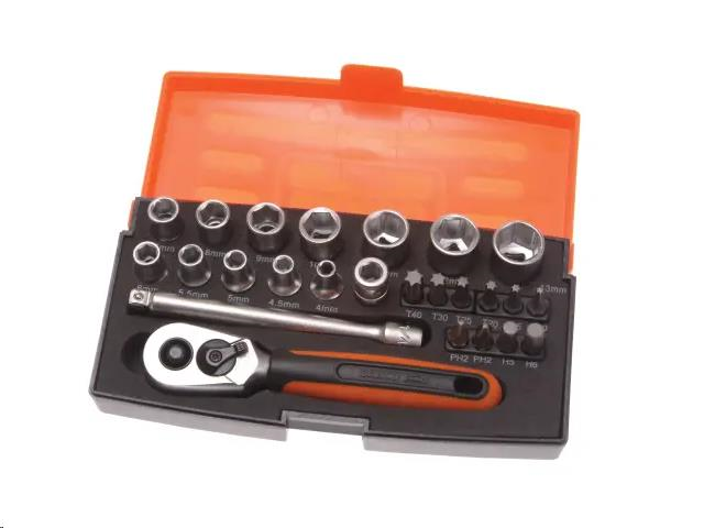 BAHCO SL25 SOCKET SET 25 PIECE 1/4IN DRIVE