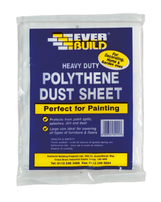 POLYTHENE DUST SHEET 12 X 9FT