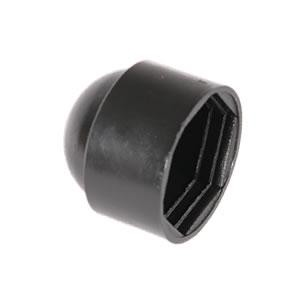 HEXAGON NUT & BOLT PROTECTION CAP - BLACK PLASTIC M16