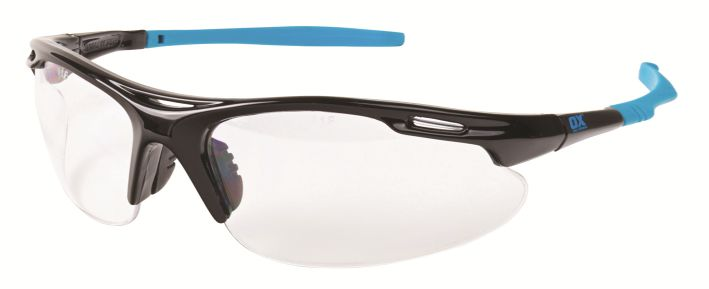 OX PRO WRAP AROUND SAFETY GLASSES CLEAR