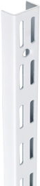 TWIN SLOT UPRIGHT - WHITE 2400MM