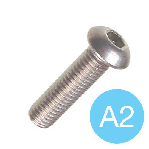 SOCKET SCREW - A2 S/S BUTTON HEAD M 6 X 12