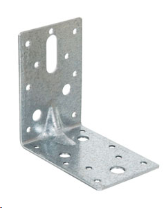 REINFORCED ANGLE BRACKET - GALVANISED 90 X 90 X 2.5MM (X 60MM WIDE)