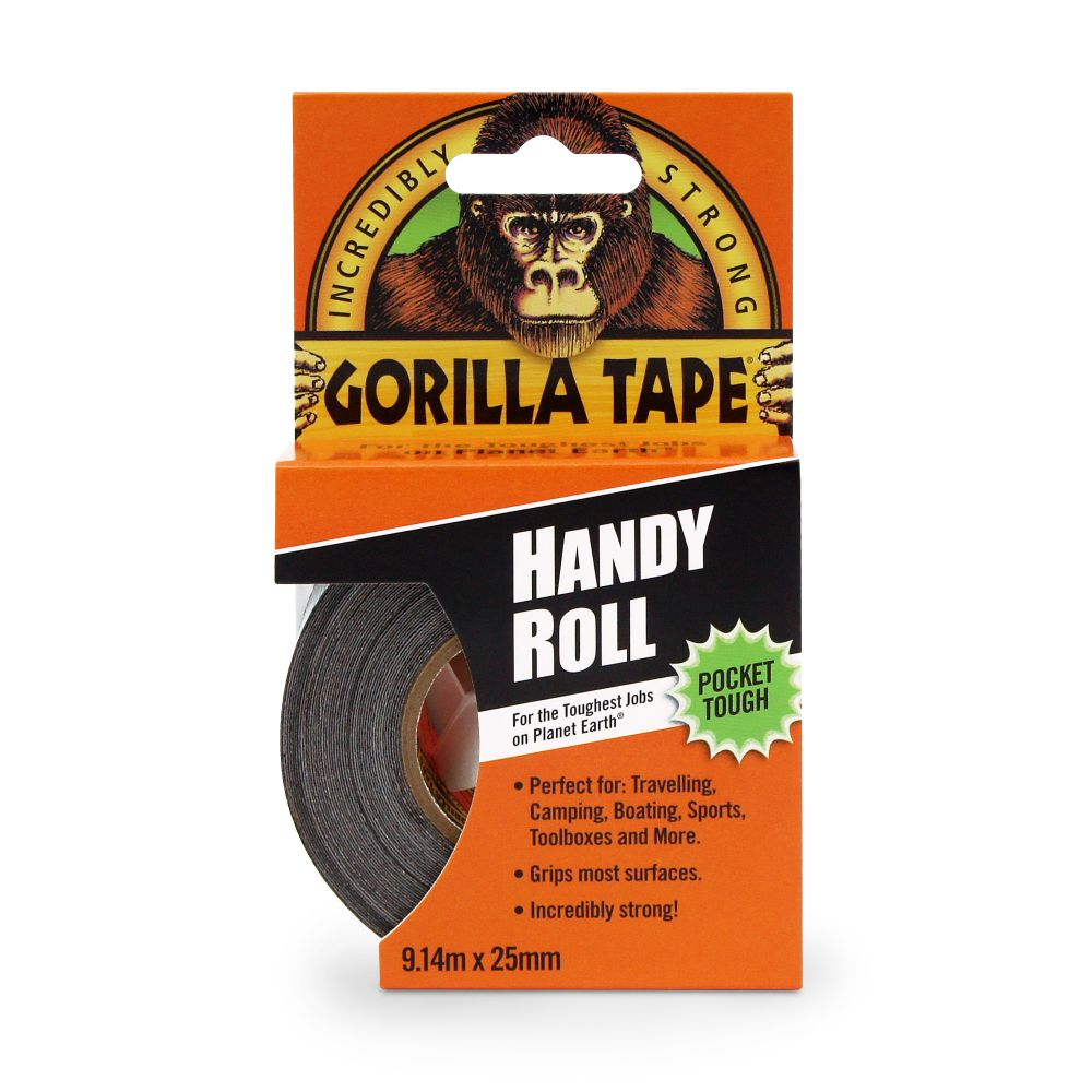 GORILLA DUCT TO GO HANDY ROLL TAPE (THIN) 25MM X 9M