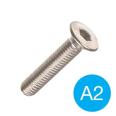 SOCKET SCREW - A2 S/S CSK M 4 X  12