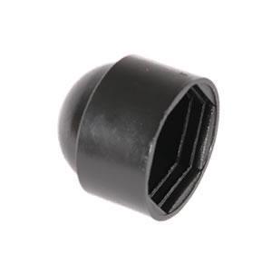 HEXAGON NUT & BOLT PROTECTION CAP - BLACK PLASTIC M12