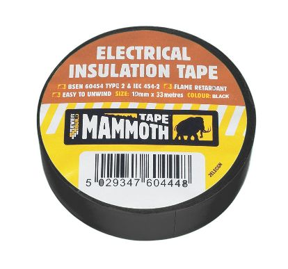 ELECTRICAL INSULATION TAPE 19MM X 33M BLACK